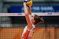 Hyke Lyklema of Netherlands in action during United States - Netherlands, FIVB U20 Women's World Championship on July 15, 2021 in Rotterdam