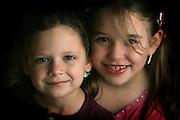 Best friends portrait. Emma Twele and Elli Rose Focht are best friends.