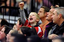 Bristol Flyers 7 fan celebrates - Mandatory byline: Dougie Allward/JMP - 11/12/2015 - Basketball - SGS Wise Campus - Bristol, England - Bristol Flyers v Plymouth Raiders - British Basketball League