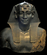 Ptolemaic, 305-283 BC portrait bust of Pharoah Ptolemy I, the founder of the Ptolemaic dynasty. ruled Egypt as Ptolemy I Soter ('Saviour') with his sister-wife, Berenike I, until his death in 283 BC. At his death he left a very prosperous kingdom. He also founded the Museum (Mouseion), a cultural centre for scholars and artists, and established the famous library at Alexandria.