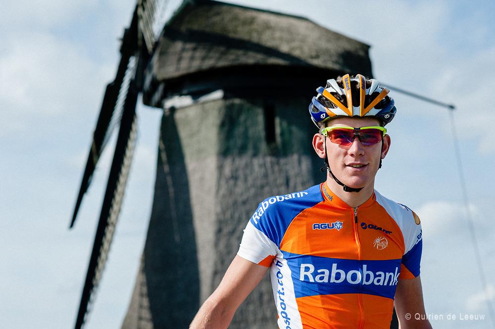 Fotoreportage met Rabobank wielrenner Jetse Bol, 2012