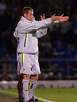 Photo: Ashley Pickering.<br />Ipswich Town v Preston North End. Coca Cola Championship. 17/10/2006.<br />Preston's manager Paul Simpson gives directions from the touchline