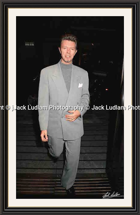 David Bowie Bury st<br /> Mayfair 1992 By Jack Ludlam<br /> A2  Museum-quality Archival signed Framed Print