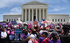 Pro-abortion activists rally at the Supreme Court - DC - 21 May 2019