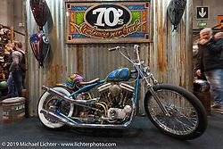 70's Company display at Motor Bike Expo. Verona, Italy. Friday January 19, 2018. Photography ©2018 Michael Lichter.