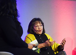 Cape Town-180815 Patricia de Lille answering a question from the host of the Daily Maverick media  gathering Lindiwe Mazibuko who was asking them about different topics .photograph:Phando Jikelo/African News Agency/ANA