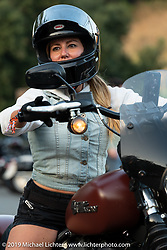 Woman riders from Arizona at Cook's Corner during the Born Free Motorcycle Show in Trabuco Canyon, CA, USA. Saturday, June 22, 2019. Photography ©2019 Michael Lichter.