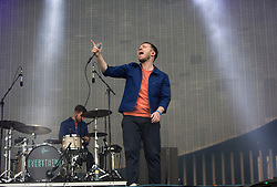 Jonathan Higgs, main singer, with Everything Everything on the main stage, Friday at TRNSMT music festival, Glasgow Green.