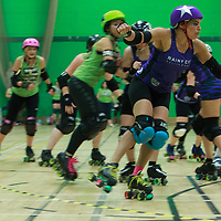 Rainy City Roller Derby's Tender Hooligans take on Cambridge Rollerbillies at The Castle Leisure Centre, Bury in the British Champs 2017 Tier 2 North Finals, 2017-08-05