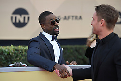January 20, 2018 - Los Angeles, California, U.S. - STERLING K BROWN AND JUSTIN HARTLEY during red carpet arrivals for the 24th Annual Screen Actors Guild Awards, held at The Shrine Expo Hall. (Credit Image: © Kevin Sullivan via ZUMA Wire)