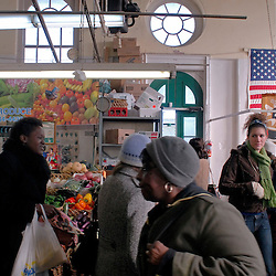 WASHINGTON, DC - Inside Washington, DC's historic Eastern Market where produce stalls, bakeries, butchers, and countertop cafes can all be found on Saturday and Sunday...Photo by Susana Raab