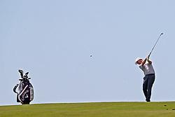 June 11, 2019 - Pebble Beach, CA, U.S. - PEBBLE BEACH, CA - JUNE 11: PGA golfer Branden Grace plays the 9th hole during a practice round for the 2019 US Open on June 11, 2019, at Pebble Beach Golf Links in Pebble Beach, CA. (Photo by Brian Spurlock/Icon Sportswire) (Credit Image: © Brian Spurlock/Icon SMI via ZUMA Press)