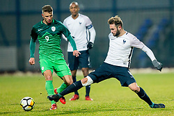 Jan Mlakar of Slovenia during football match between National teams of Slovenia and France in UEFA European Under-21 Championship Qualification, on November 13, 2017 in Domzale, Slovenia. Photo by Vid Ponikvar / Sportida