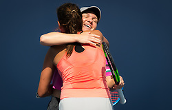 March 23, 2019 - Miami, FLORIDA, USA - Simona Halep of Romania & Julia Goerges of Germany playing doubles at the 2019 Miami Open WTA Premier Mandatory tennis tournament (Credit Image: © AFP7 via ZUMA Wire)
