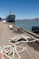 USS Jeremiah O'Brien Naval Battleship Docked at Pier 45, San Francisco, California