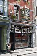 Exterior of ONeills traditional Irish pub on 04th April 2017 in Dublin, Republic of Ireland. Dublin is the largest city and capital of the Republic of Ireland.