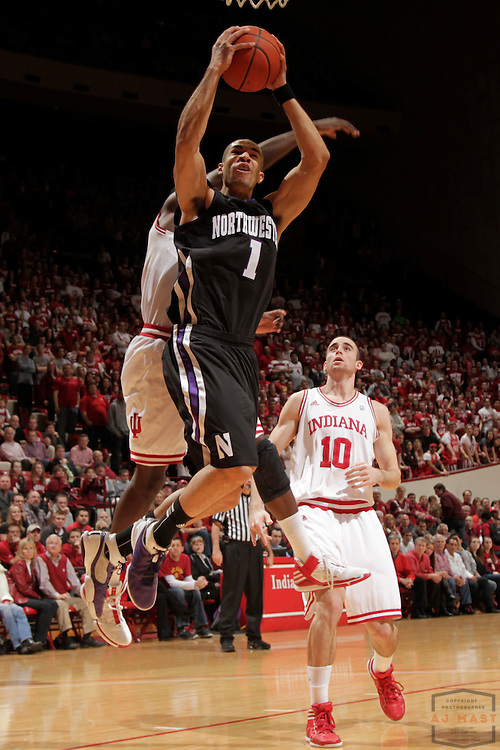15 February 2012: Northwestern Wildcats guard/forward Drew Crawford (1) as the Indiana Hoosiers played the Northwestern Wildcats in a college basketball game in Blomington, Ind.