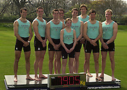 Putney. London.<br /> Hurlingham Club<br /> Photo Peter Spurrier<br /> 2002 Varsity Boat Race Weigh-in<br /> Cambridge University Boat Club Blue Boat participate in a Crew weigh-in [Mandatory Credit:Peter SPURRIER/Intersport Images] 20020325 University Boat Race,  Weigh In, Putney, London