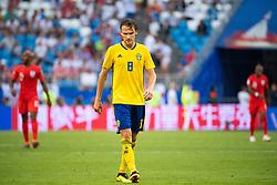 July 7, 2018 - Samara, Russia - 180707 Albin Ekdal of Sweden looks dejected during the FIFA World Cup quarter final match between Sweden and England on July 7, 2018 in Samara..Photo: Petter Arvidson / BILDBYRÃ…N / kod PA / 92083 (Credit Image: © Petter Arvidson/Bildbyran via ZUMA Press)