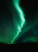 Beautiful green aurora above Thaneta Pass, Alaska