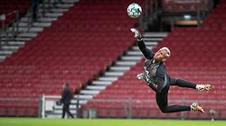 Kasper Schmeichel (Danmark) under UEFA Nations League kampen mellem Danmark og England den 8. september 2020 i Parken, København (Foto: Claus Birch).