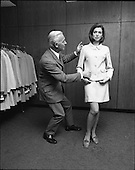1969 - Miss Ireland, Patricia Byrne presented with new outfit at Doreen Ltd