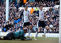 Photo: Daniel Hambury.<br />Tottenham Hotspur v Blackburn Rovers. The Barclays Premiership. 05/03/2006.<br />Tottenham's Robbie Keane scores his sides second goal.