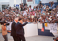 Johnny Depp with fans at the gala screening for the film Black Mass at the 72nd Venice Film Festival, Friday September 4th 2015, Venice Lido, Italy.