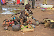 Hamer Tribe market Photographed in the Omo River Valley, Ethiopia