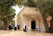 Druse holy site. The tomb of Nebi (Prophet) Hazuri, Israel, Golan Heights