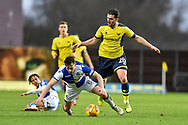 Oxford United Forward, Agon Mehmeti (28) fouls Bristol Rovers Midfielder, Ollie Clarke (8) during the EFL Sky Bet League 1 match between Oxford United and Bristol Rovers at the Kassam Stadium, Oxford, England on 10 February 2018. Picture by Adam Rivers.