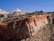 Looking west from the area of Cassidy Arch, Capitol Reef National Park, near Torrey, Utah.