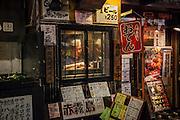 JAPAN, TOKYO, JANUARY 2013 - Shinjuku - Omoide-Yokocho -Small and old traditionnal japanese restaurant in west Shinjuku.[FR] Shinjuku - Omoide-Yokocho - Petits restaurants traditionnels japonais des les peteites ruelles de Shinjuku ouest
