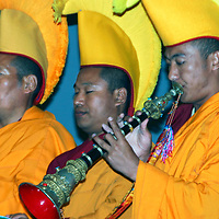 """The Monks of Gaden Shartse Monastery Tour """"Sacred Earth and Healing Arts of Tibet"""" in Encinitas, California. Note: A portion of the proceeds from the sale of this image will be donated to the Monks of Gaden Shartse.  Please respect that licensing of this image is limited - approval for use must be granted by the photgrapher."""
