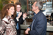 AMANDA MANN; SIMON MANN; FRANK MANNION, The launch party of BloomsburyÕs publication of Why not say what happened?, a memoir by Ivana Lowell  hosted by Ivana Lowell and Catherine Ostler, at WheelerÕs of St. JamesÕs. London.  -DO NOT ARCHIVE-© Copyright Photograph by Dafydd Jones. 248 Clapham Rd. London SW9 0PZ. Tel 0207 820 0771. www.dafjones.com.<br />