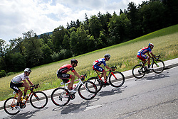 Maximilian Kuen (AUT) of Tirol Cycling Team, Matej Mugerli (SLO) of Amplatz - BMC, Ziga Groselj (SLO) of KK Adria Mobil, Matteo Rabottini (ITA) of Meridiana Kamen Team  during Stage 3 of 24th Tour of Slovenia 2017 / Tour de Slovenie from Celje to Rogla (167,7 km) cycling race on June 16, 2017 in Slovenia. Photo by Vid Ponikvar / Sportida