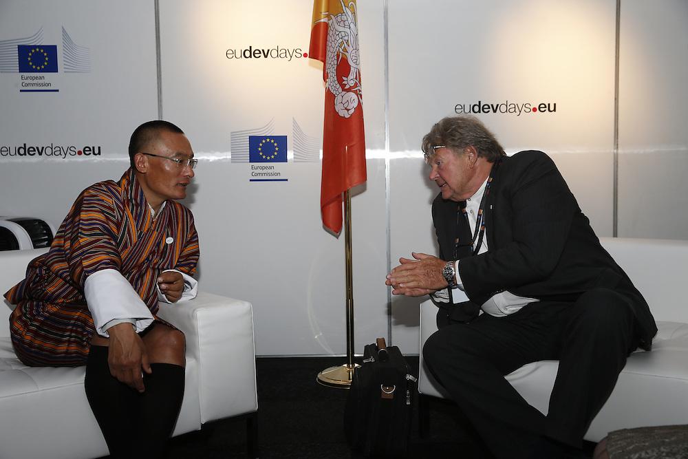 20150603- Brussels - Belgium - 03 June2015 - European Development Days - EDD  - Tshering Tobgay PM Bhutan and Luc Vossen  Vossen &Co © EU/UE