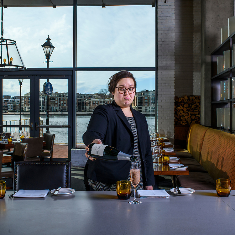 Baltimore, Maryland - January 23, 2018: Dawn Trabing is the head somolier at Wit & Wisdom at the Four Seasons Hotel in Baltimore.<br /> <br /> CREDIT: Matt Roth