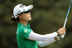 May 26, 2018 - Ann Arbor, Michigan, United States - Minjee Lee of Australia tees off on the first tee during the third round of the LPGA Volvik Championship at Travis Pointe Country Club, Ann Arbor, MI, USA Saturday, May 26, 2018. (Credit Image: © Jorge Lemus/NurPhoto via ZUMA Press)