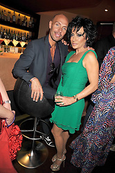 Jason Gardiner and NANCY DELL'OLIO at a party to celebrate the new Stephen Webster store on Mount Street, London W1 followed by a dinner at Maddox, Mill Street, London on 24th June 2009.