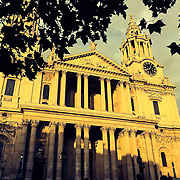 St. Pauls bathed in summer evening sun.<br /> <br /> Shot on iPhone 6 on evening bike ride/