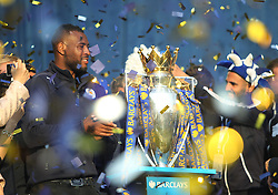 Wes Morgan of Leicester City during the celebrations - Mandatory by-line: Jack Phillips/JMP - 16/05/2016 - FOOTBALL - Leicester City FC, Sky Bet Premier League Winners 2016 - Leicester City Victory Parade