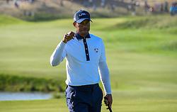 September 29, 2018 - St Quentin En Yvelines, France - Joie de Tiger Woods  (Credit Image: © Panoramic via ZUMA Press)