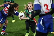 Kids game during half time break during the Mitre 10 Cup rugby match between the Wellington Lions & Canterbury at Westpac Stadium, Wellington. Friday 23rd August 2019. Copyright Photo: Grant Down / www.Photosport.nz