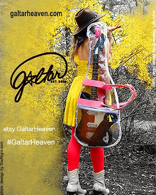 Galtarheaven.com buy guitar bags<br /> <br /> photo/design <br /> Star Nigro.com<br /> <br /> Model/CEO Galtar Heaven Enterprizes<br /> Journey Blue Heaven