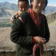 Local village people. Tibet.