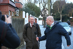 © Licensed to London News Pictures. 05/01/2016. London, UK.  Shadow Foreign Secretary Hilary Benn leaves home for Parliament. Labour Party leader Jeremy Corbyn is expected to announce the results of a re-shuffle today.  Photo credit: Peter Macdiarmid/LNP