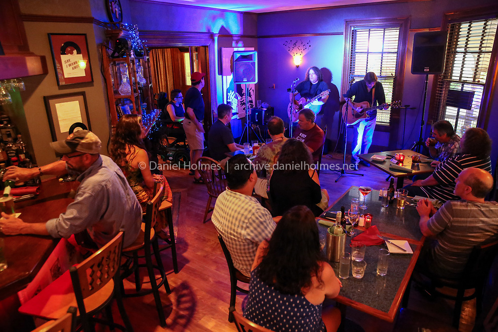 (7/10/19, MILLIS, MA) The Coalboilers perform to a full room at Jasper Hill in Millis on Wednesday. [Daily News and Wicked Local Photo/Dan Holmes]