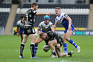 Hull FC scrum half Marc Sneyd (7) points at the play the ball during the Betfred Super League match between Hull FC and St Helens RFC at Kingston Communications Stadium, Hull, United Kingdom on 16 February 2020.