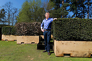 Garden designer Christopher Bradley - Hole at Crocus Nursery, Windlesham photographed for the Independent magazine